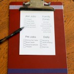 Shaped & Altered Clipboards (for summer chores checklists)