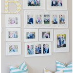 {Photo Wall Layout with Monogram}