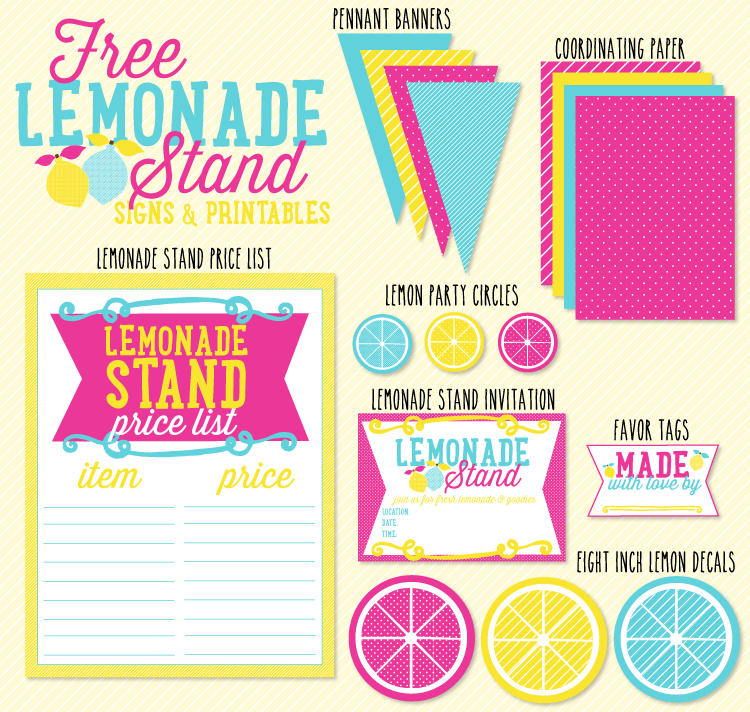 Lemonade Stand Printables to Create - 85.2KB
