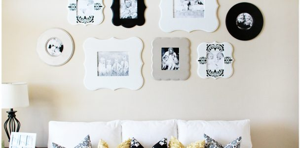 {Jamie's Shaped Photo Frame Wall & Poppy Seed Projects}
