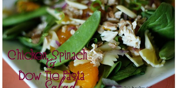 Chicken, Spinach and Bow Tie Pasta Salad