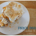 Peach Dessert with Cookies and Cream