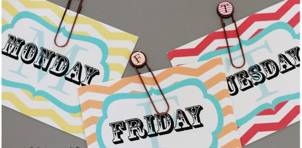 {Days of the Week Outfit Tags for Back to School & Free Printables}