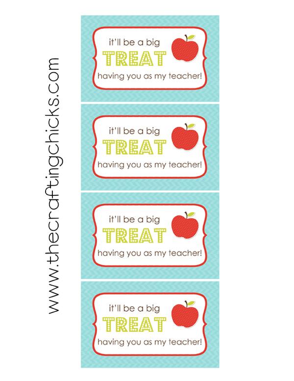 Back to School Teacher Treat & Tag {Free Printable} - The