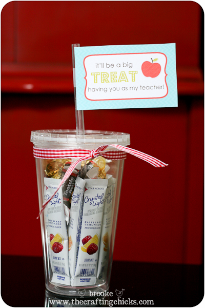 Back to School Teacher Treat & Tag. At the beginning of the school year I usually like to give my kids' teachers a little treat. Here's a simple idea.
