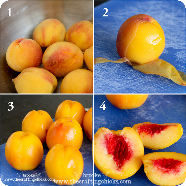 how to easily peel peaches
