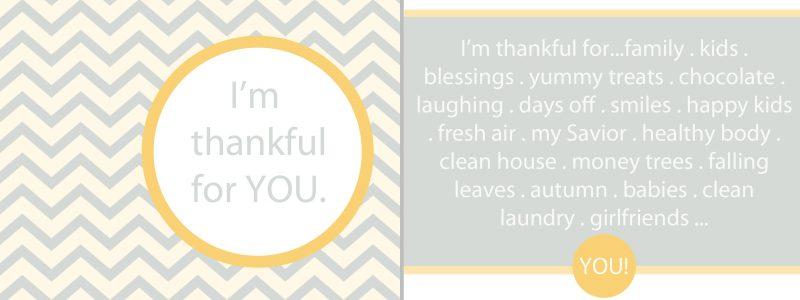 "Thanksgiving/Autumn Thankful Cards ""Free Printables"""