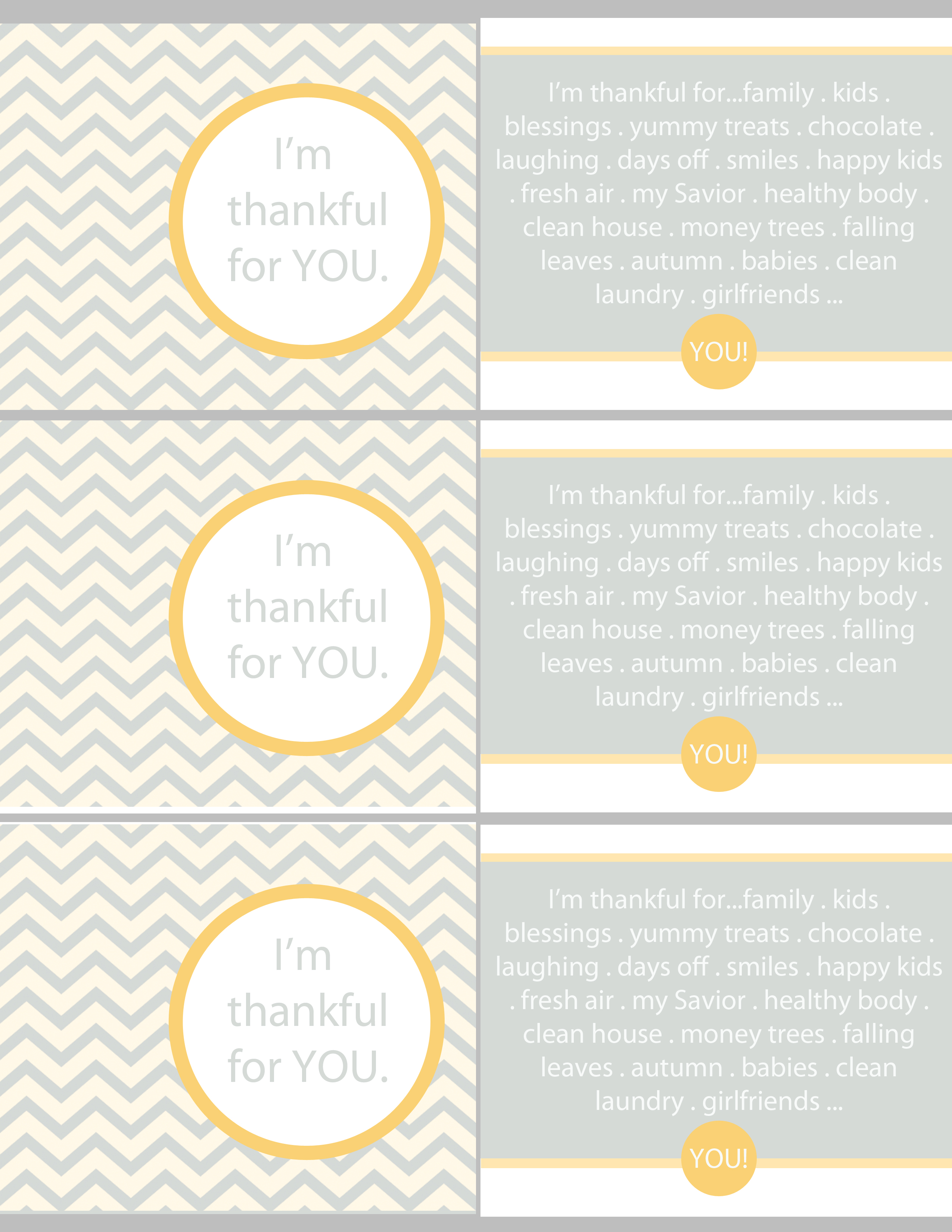 "Thanksgiving/Autumn Thankful Cards ""Free Printables""The"