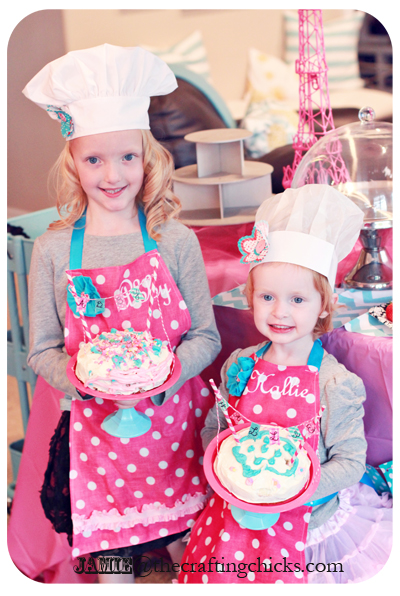 Easy DIY Bandanna Mini Aprons - Paris Bakeshop Birthday Party