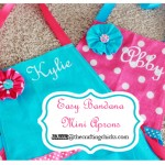 {Easy Bandanna Mini Aprons-Paris Bakeshop Party Part 1}