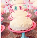 {Mini Cake Stands and Washi Tape Mini Cake Banners- Bake Shop Party Part II}