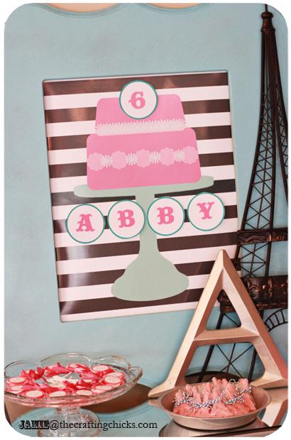 DIY Paris Bakeshop Birthday Party