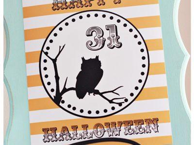 "{Halloween Owl ""Free Printable""}"