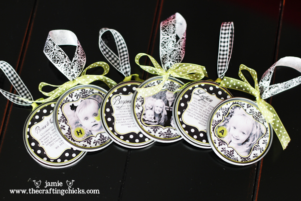 Homemade photo ornaments