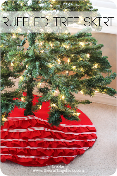 No-Sew Ruffled Tree Skirt {Michaels Holiday Dream Tree Challenge}