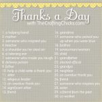 Thanks a Day Gratitude Challenge:: Welcome Craftaholics Anonymous