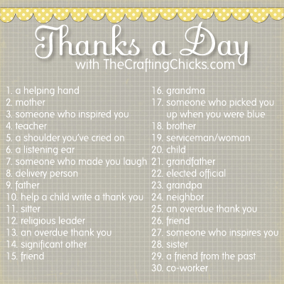 Thanks a Day Gratitude Challenge:: Welcome Every Creative Endeavor
