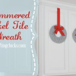 Home Depot Blogger Network: Hammered Nickel Tile Wreath