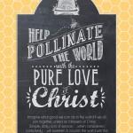 """Pollinate the World"" Chalkboard Art poster {Free Printable}"