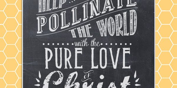 """Pollinate the World"" Chalkboard Art poster {Free Printable}"