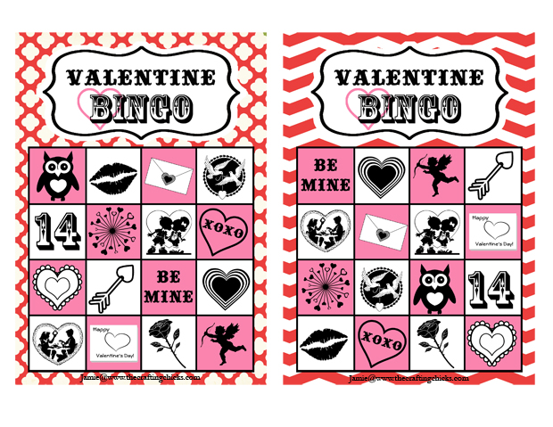 Valentine Bingo Free Printable The Crafting Chicks – Valentines Day Bingo Cards