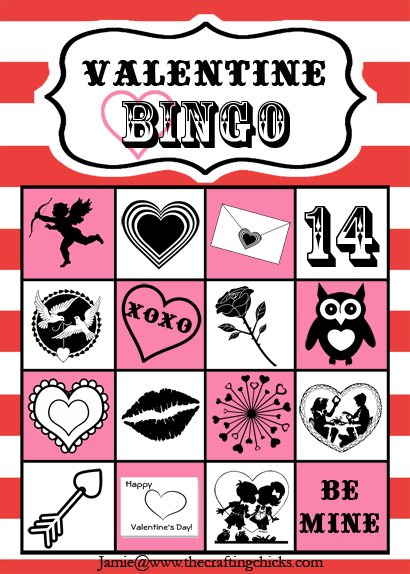 photo relating to Printable Valentines Bingo identify Valentine Bingo Free of charge Printable - The Composing Chicks