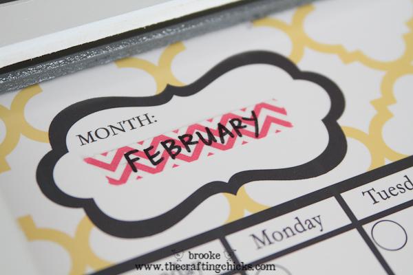 dry erase calendar -2995