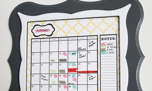 Washi Tape Labels & Dry Erase Calendar
