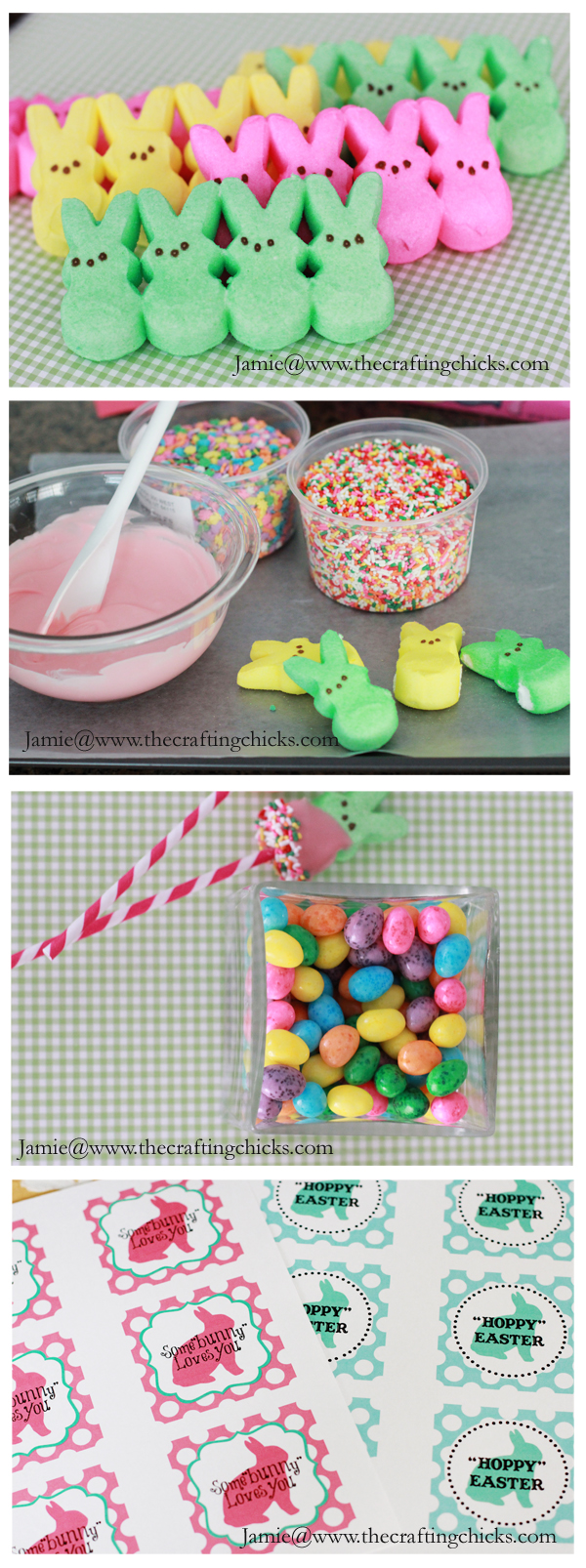 How To Make a Peep Bouquet