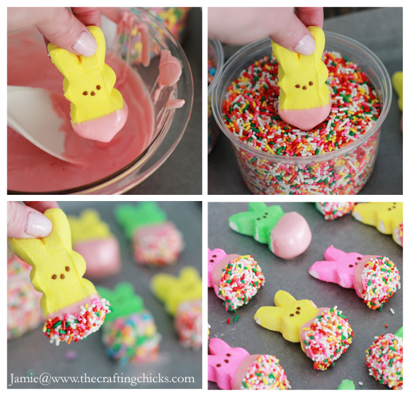 How to make a peep bunny bouquet