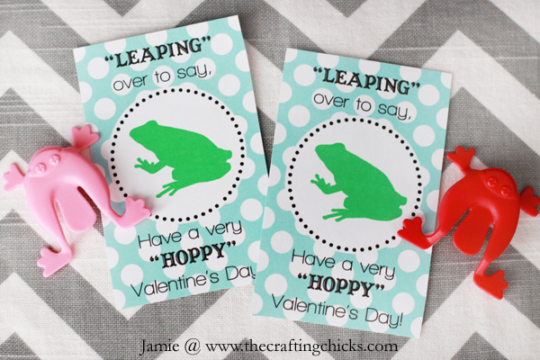 Frog Valentine Amp Free Printable The Crafting Chicks