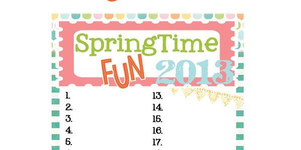 Springtime Fun Checklist 2013