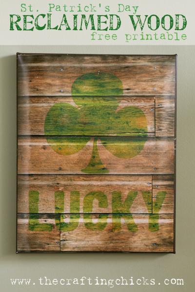 digital reclaimed wood sign printable