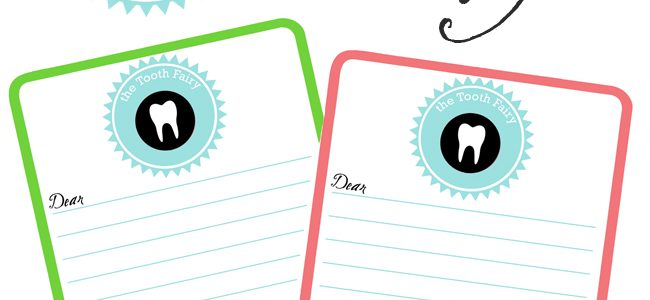 Tooth Fairy Stationery + Free Printable