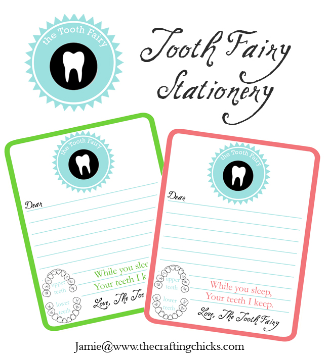 tooth fairy stationery 1 sm
