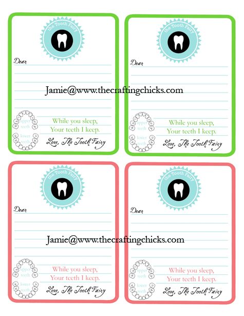 graphic about Tooth Fairy Stationary identified as Teeth Fairy Stationery