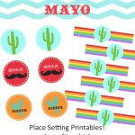 {Cinco De Mayo Place Setting Printables}
