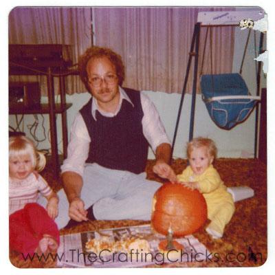 Father-carving-pumpkins