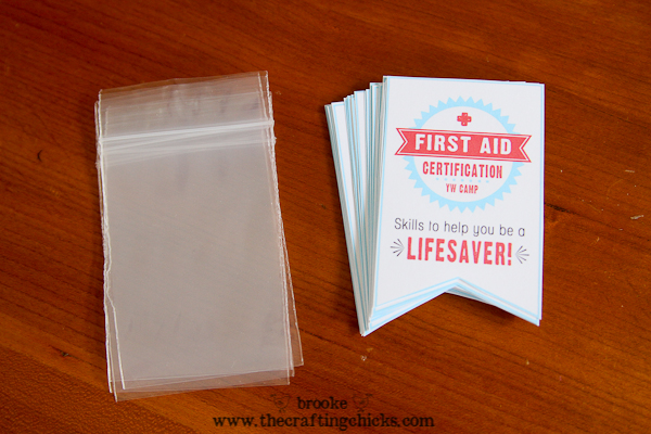 first aid certification handout supplies
