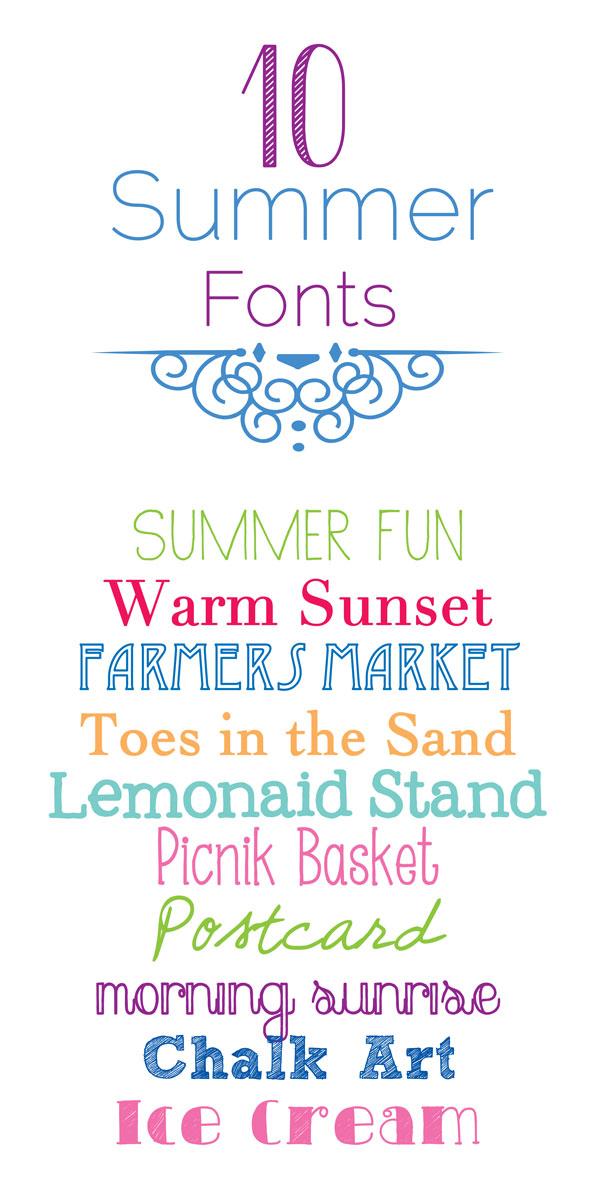 10 Summer Fonts
