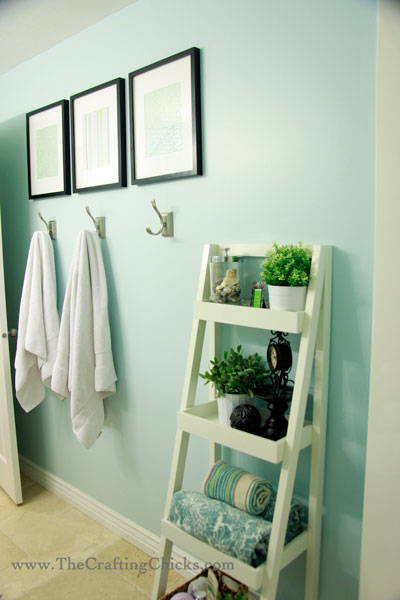 10 ways to take a bathroom from drab to fab framed fabric towel hook update hometalk
