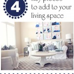 Living Room Makeover-Adding Key Pieces to your Space