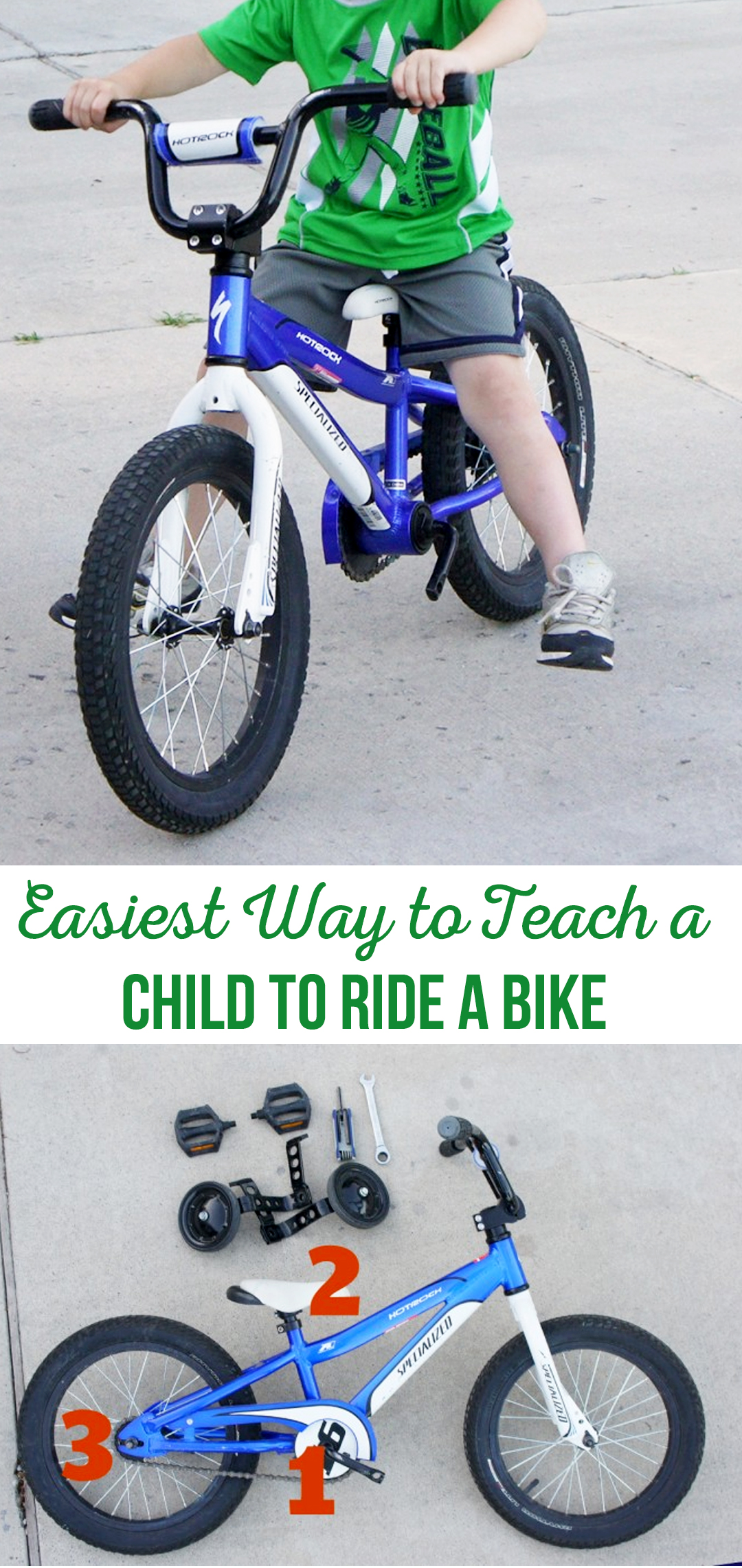 Easiest Way to Teach a Child to Ride a Bike