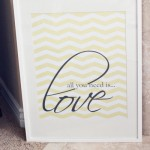 """All You Need Is LOVE"" free wall art printable"