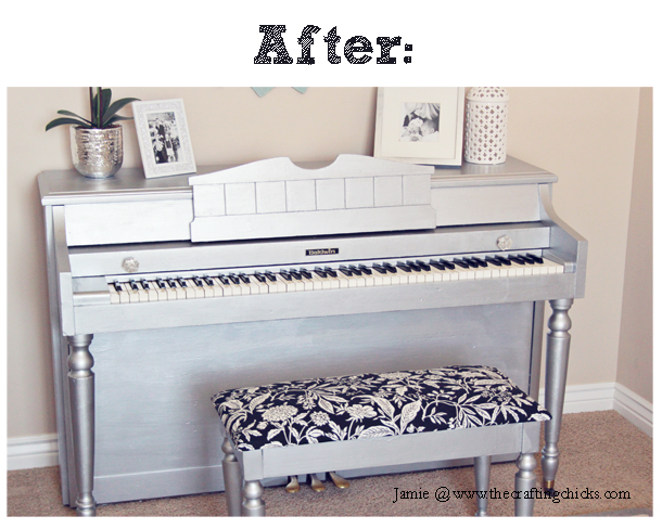 DIY Silver Painted Piano