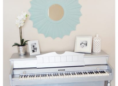 Silver Painted Piano