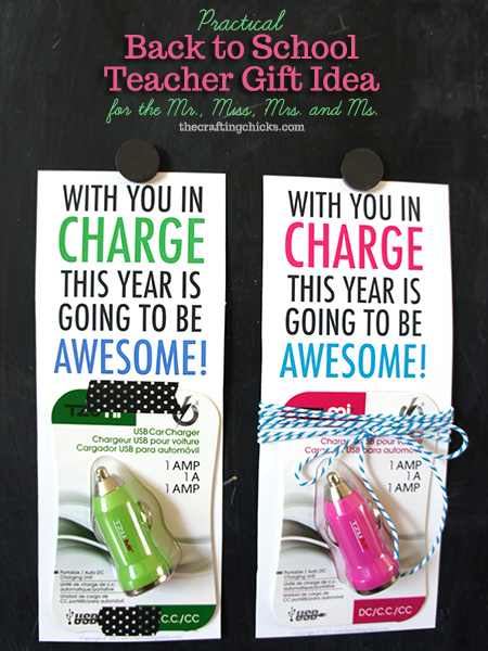 usb charger teacher gift idea