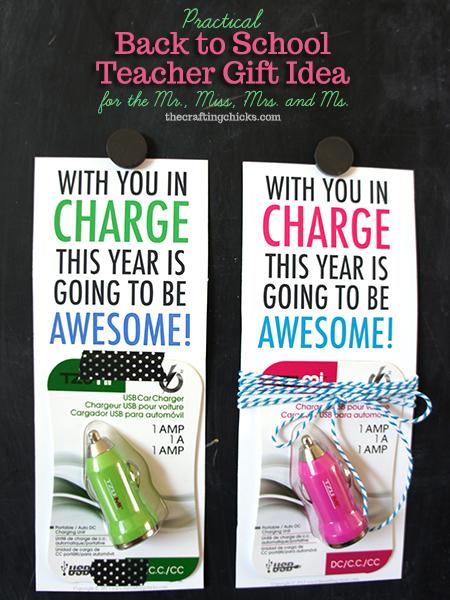 usb charger teacher gift idea