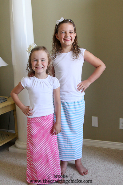 knit maxi skirt tutorial