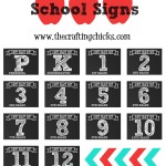 1st Day of School Signs & Free Printables